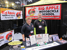 George and Diane at the International Motorcycle Show, December 2013